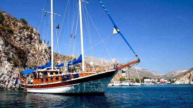 Nigel James Chartered Gulet Ship in the Marina