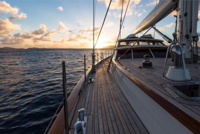 Deck of the Bareboat Sailing Yacht 'Marae'