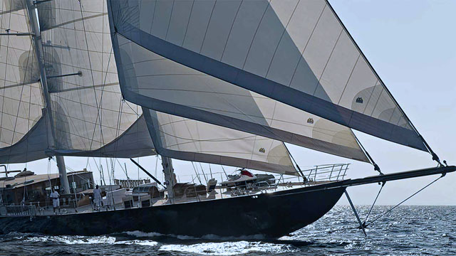 The crewed sailing yacht Regina