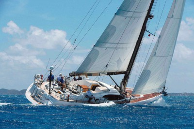 The Sailing Yacht Roulette full sail