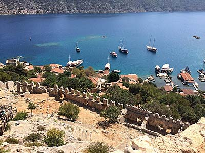 Nigel James Yacht Charter sunken city of Kekova Turkey