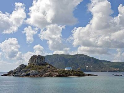 Small island of Kastri off the coast of Kos in the Dodecanese