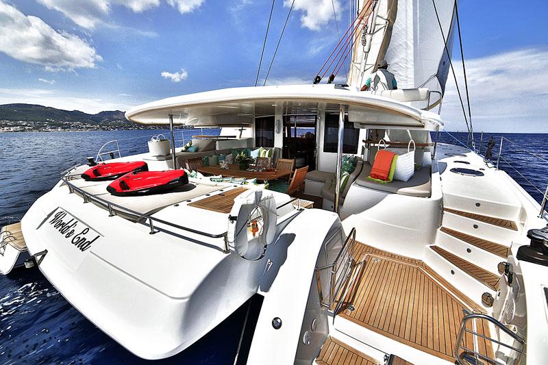 Nigel James Yacht Charter crewed charter catamaran World's End in Greece