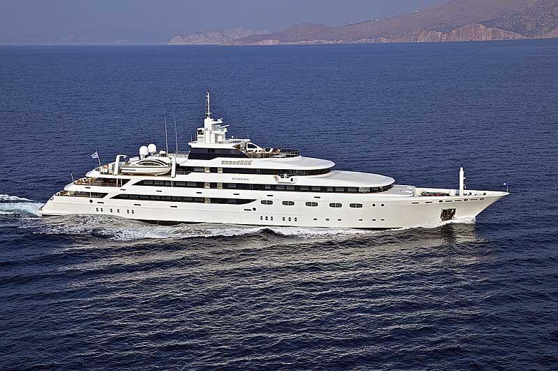 Nigel James Yacht Charter crewed mega yacht O'Mega