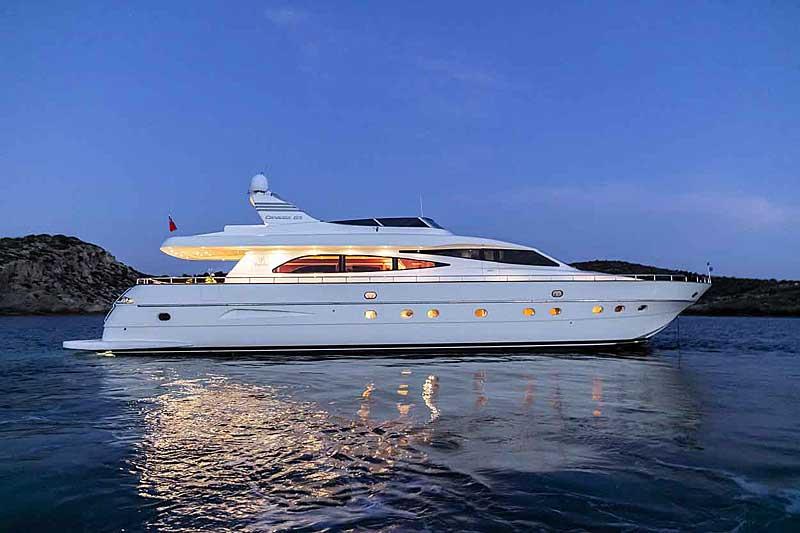 Nigel James Yacht Charter crewed charter motor yacht Parcifal