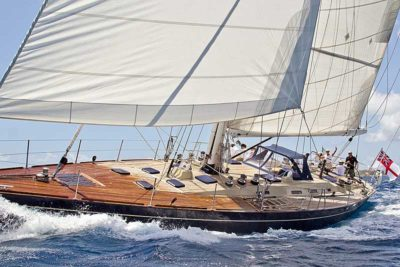 Nigel James Yacht Charter crewed sailing yacht Pacific Wave in the Caribbean