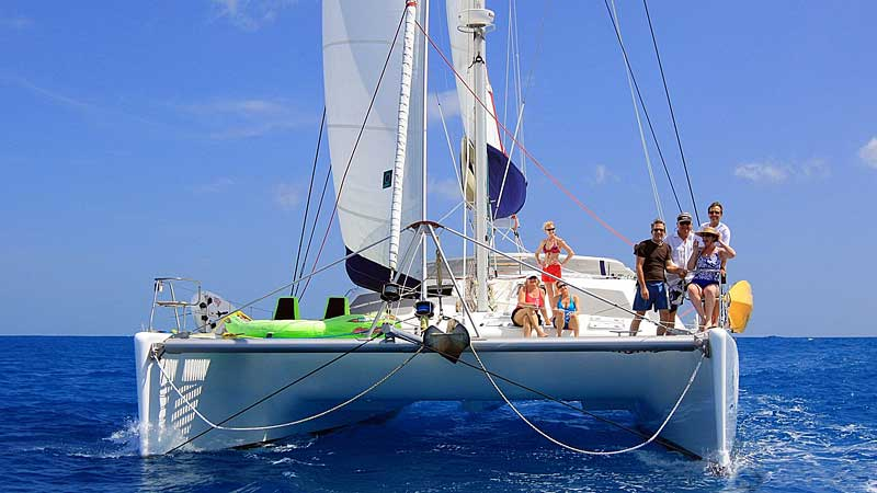 Nigel James Yacht Charter crewed catamaran Yes Dear in the Virgin Islands