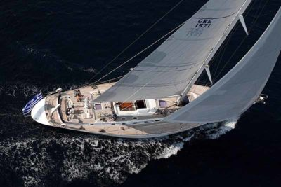 Nigel James Yacht Charter crewed charter Swan sailing yacht Callistó in Greece