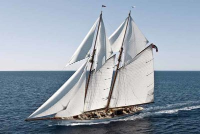 Nigel James Yacht Charter crewed sailing yacht Germania Nova under full sail