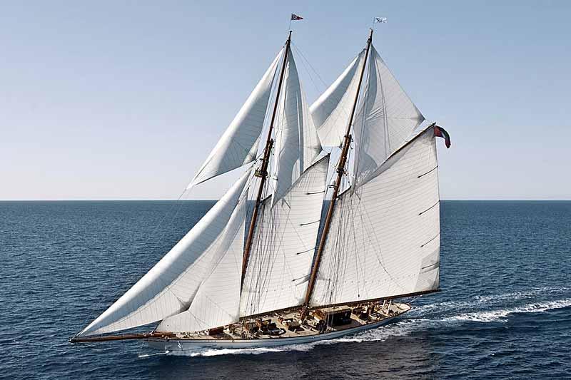 Nigel James Yacht Charter crewed sailing yacht Germania Nova under full sail