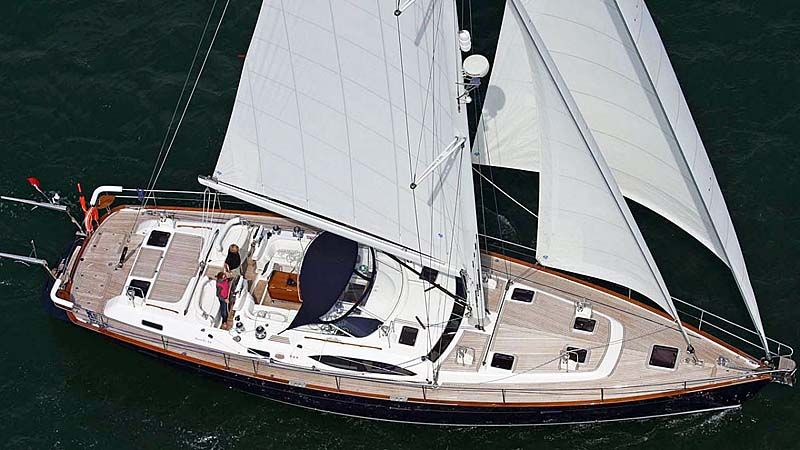 Nigel James Yacht Charter crewed sailing yacht Mustique in the eastern Mediterranean