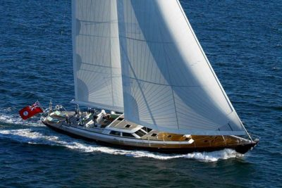 Nigel James Yacht Charter Crewed sailing yacht whisperin full sail