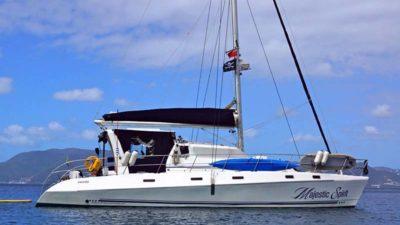Nigel James Yacht Charter crewed catamaran Majestic Spirit