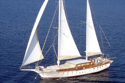 Nigel James Yacht Charter crewed Caique motor sailer Aegean Schatz