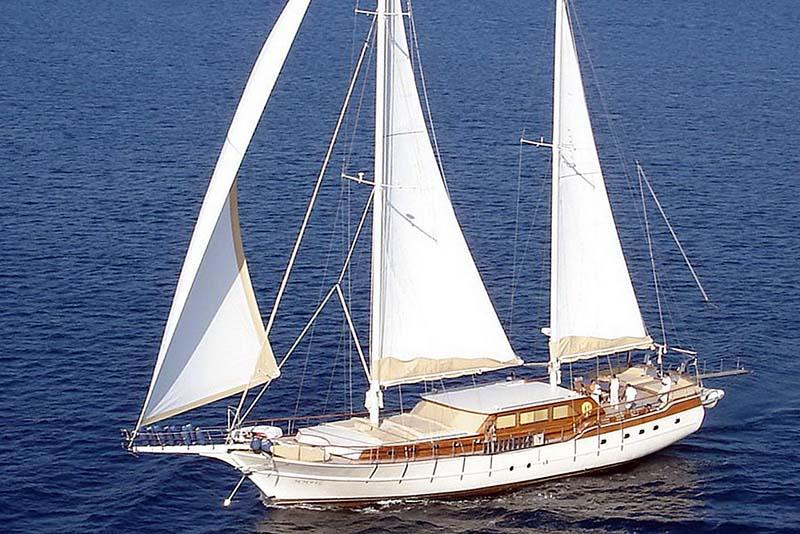 Nigel James Yacht Charter crewed Caique motor sailer Aegean Schatz