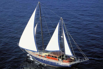 Nigel James Yacht Charter crewed caique/gulet Almyra