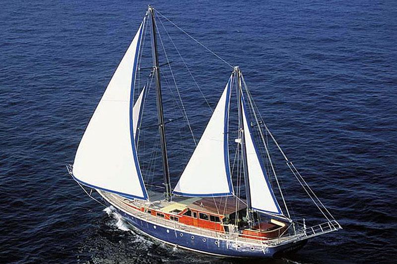 Nigel James Yacht Charter crewed caique/gulet Almyra