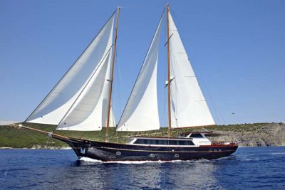 Nigel James Yacht Charter crewed motor sailer Iraklis L in Greece