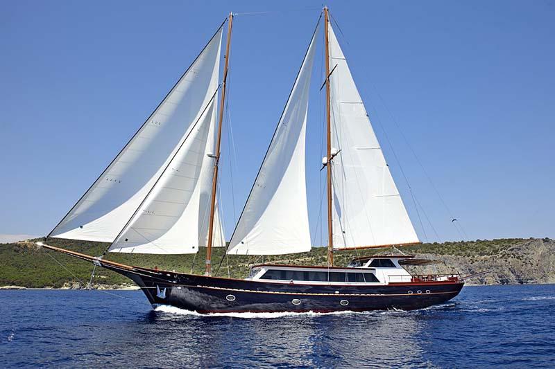 Nigel James Yacht Charter crewed motor sailer Iraklis L in Greece