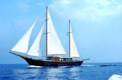 Nigel James Yacht Charter crewed motor sailer Liana H