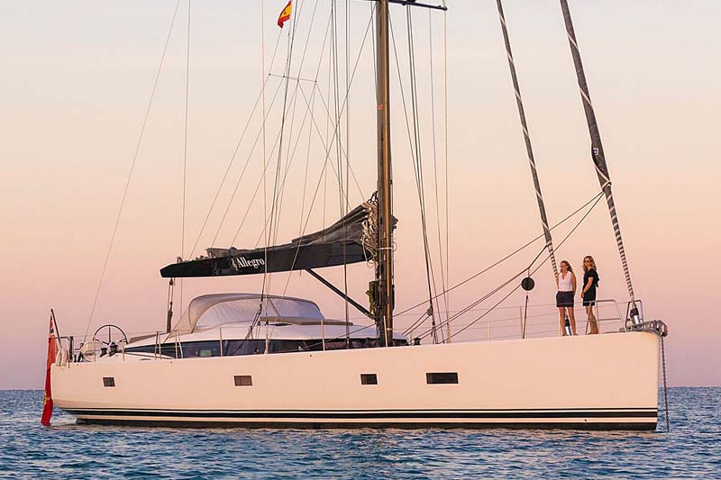 Nigel James Yacht Charter crewed sailing yacht Allegro