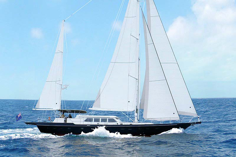 Nigel James Yacht Charter crewed sailing yacht Domicil