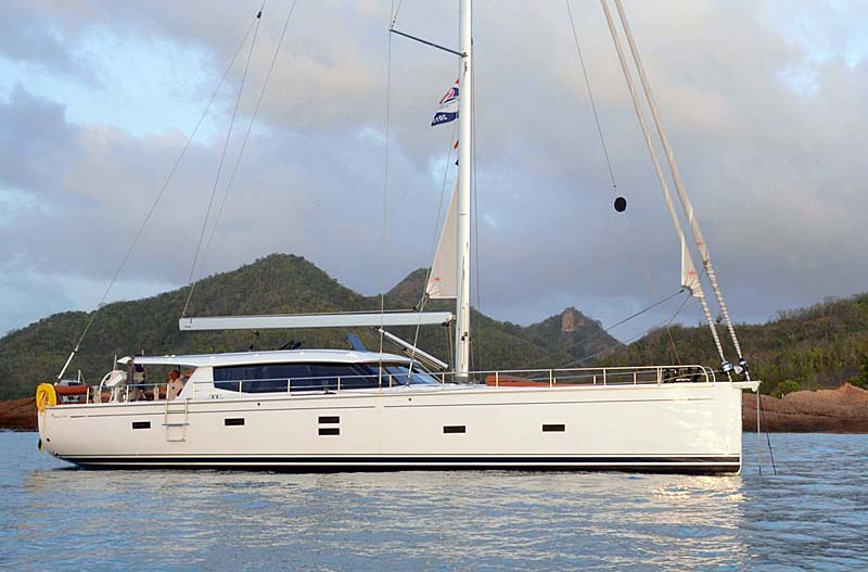 Nigel James Yacht Charter crewed sailing yacht Mojeka in the Caribbean