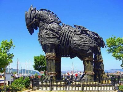 Trojan Hose Statue Troy Turkey