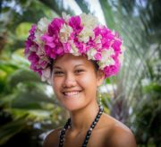 Nigel James Yacht Charter | Polynesian girl's floral head dress