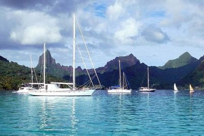 Nigel James Yacht Charter | tranquil south Pacific lagoon