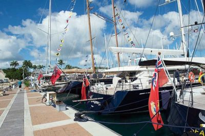 Nigel James Yacht Charter | Antigua Charter Yacht Show dock