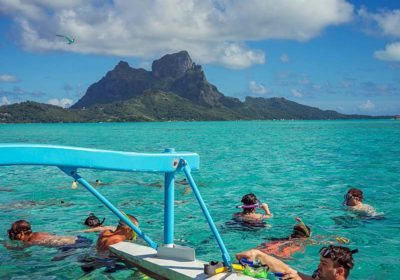 Nigel James Yacht Charter | lagoon swimming