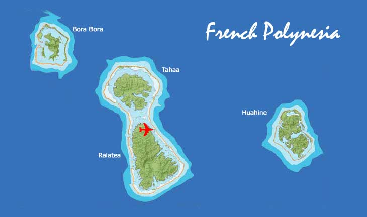 Nigel James Yacht Charter | map of French Polynesia inner islands