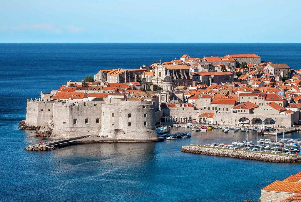 The beautiful Croatian medieval walled town of Dubrovnik