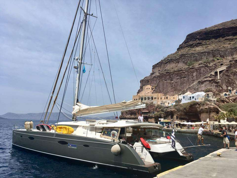 Nigel James Yacht Charter crewed charter catamaran World's End in Greece