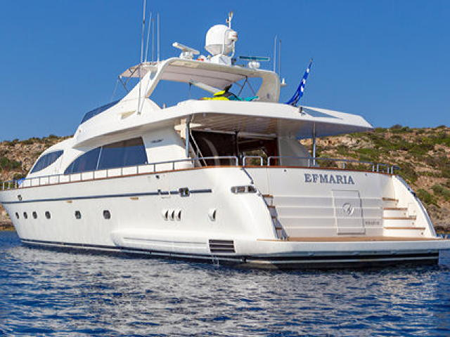 Crewed charter Motor yacht Efmaria in Greece