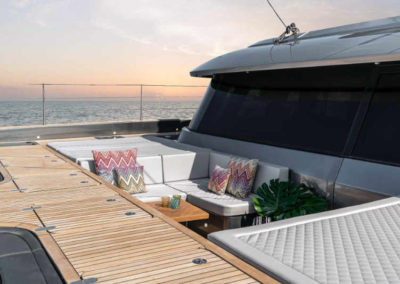 Foredeck of New Luxurious Electric, Eco-Conscious 60ft Catamaran