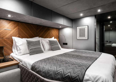 Master cabin of New Luxurious Electric, Eco-Conscious 60ft Catamaran