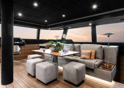 Saloon of new Luxurious Electric, Eco-Conscious 60ft Catamaran